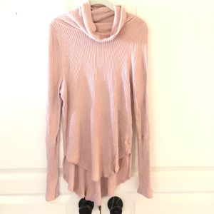 Pink loose turtle neck